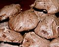 Dark chocolate macaroons, August 2005.jpg