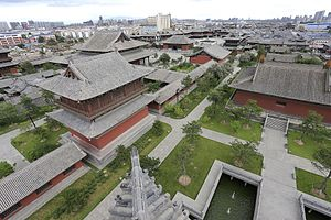Huayan - Aerial view of Huayan temple, Datong