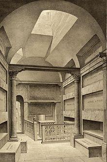 Ricostruzione del De Rossi della Cripta dei Papi