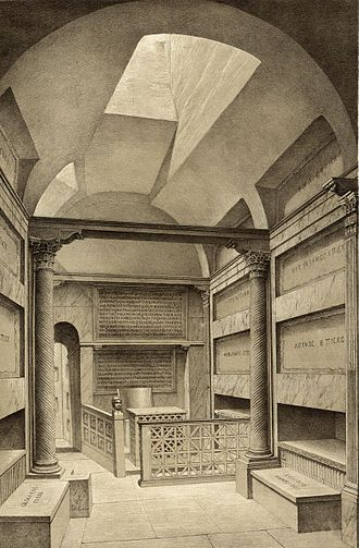 Roman funerary art - Reconstruction of the Catacomb of Callistus