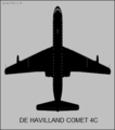 De Havilland Comet 4C top-view silhouette.png