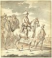 De jonge Prins Willem V te paard, met gevolg, Tethart Haag, 1762.jpg