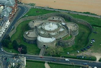 Deal Castle - The castle viewed from the air