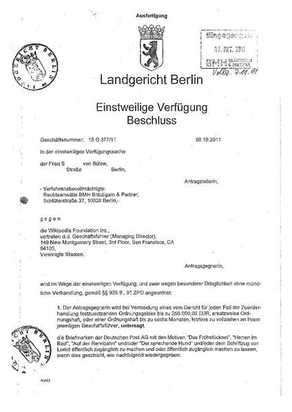 filedecision re loriot stampspdf - Einstweilige Verfugung Muster