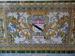 Antonio de Zúñiga - Antonio de Zuñiga (Decorated tiles of the Capitania General de Barcelona)