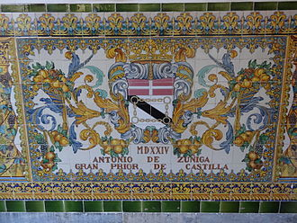 Antonio de Zúñiga - Antonio de Zuñiga (Decorated tiles of the Capitania General de Barcelona)
