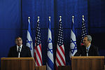 Defense.gov News Photo 111003-F-RG147-493 - Secretary of Defense Leon Panetta left answers a reporter s question during a joint press conference with Israeli Minister of Defense Ehud Barak.jpg