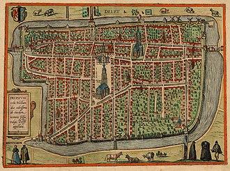 Battle of Delft (1573) - Image: Delft 1580 Braun Hogenberg