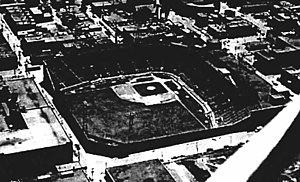 Montreal Royals - Delorimier Stadium, seen here in 1950, was the home of the Montreal Royals.
