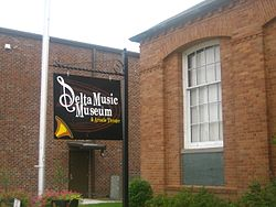 Delta Music Museum in Ferriday's downtown historic district