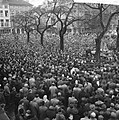Demonstraties in Brussel tegen de Eenheidswet, stakers trekken door Luik, Bestanddeelnr 911-9370.jpg