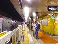Denentoshi line - Sangenjaya stn platforms and platform doors - June 2 2018.jpg