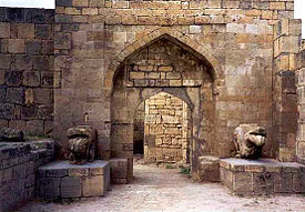 In the old town of Derbent, a World Heritage Site.