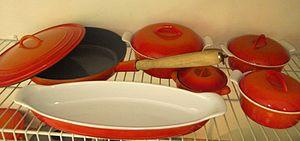 Descoware - Image: Descoware Enamel Cast Iron Cookware