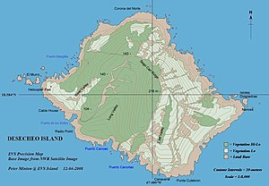 Desecheo Island - map of Desecheo Island