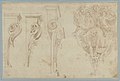 Design for Three Consoles Decorated with Foliage and Volutes and a Console with a Satyr Head Surmounted by Three Human Figures, Garland and Foliage MET 1971.513.33.jpg