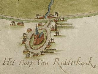 Ridderkerk - Ridderkerk in 1584