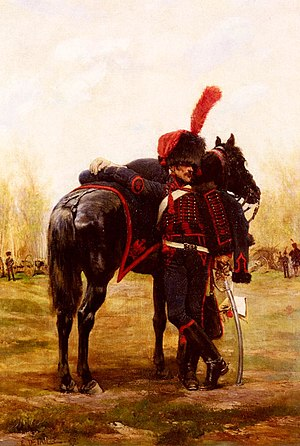 Horse artillery - French horse artilleryman of the Imperial Guard