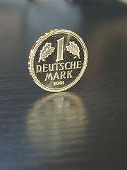 Gold 1 DM coin