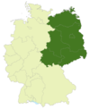 Map of Germany:Position of the Regionalliga Nordost highlighted