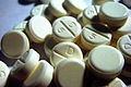 Dexamphetamine sulfate 5 mg tablets.jpg
