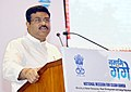 Dharmendra Pradhan addressing the gathering, at the signing of the Concession Agreement for the development of sewage treatment plant through Hybrid Annuity based Public-Private Partnership for India's first city-wide.JPG