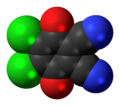 Dichlorodicyanobenzoquinone 3D spacefill.png