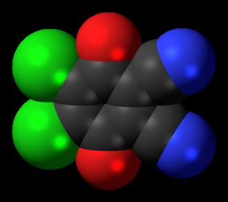 2,3-Dichloro-5,6-dicyano-1,4-benzoquinone - Image: Dichlorodicyanobenzo quinone 3D spacefill