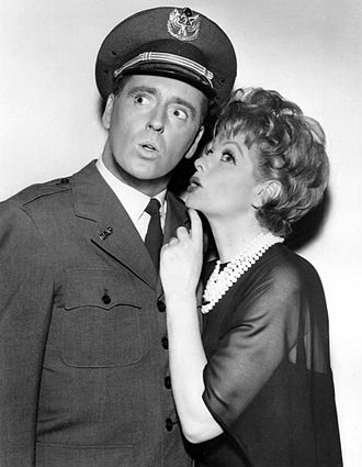 Dick Martin (comedian) - Martin as Harry, Lucy's airline pilot neighbor, on The Lucy Show, 1962