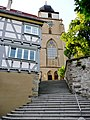 Die Stiftskirche in Herrenberg wurde in zwei großen Bauabschnitten (1276-1293 und 1471-1493) errichtet und als erste spätgotische Hallenkirche in Württemberg vollendet. - panoramio (1).jpg