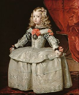 <i>Infanta Margareta Teresa in a White and Silver Dress</i> painting by Diego Rodríguez de Silva y Velázquez