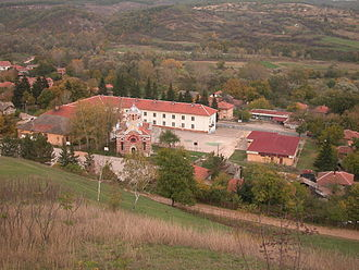 Dimovo - The primary school and the Eastern Orthodox church in Dimovo