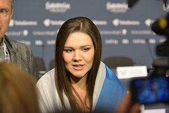 Dina Garipova - Dina Garipova at a Eurovision 2013 press conference