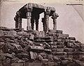 Dinai ruins of Shiva Linga Hindu temple, Bundelkhand, 1871 photo.jpg