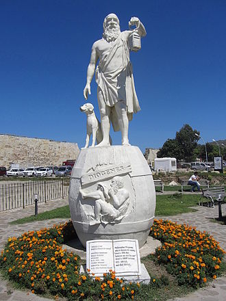 Sinop, Turkey - Statue of Diogenes at Sinop.