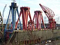 Dismantled cranes at the former Swan Hunter shipyard - geograph.org.uk - 1052477.jpg