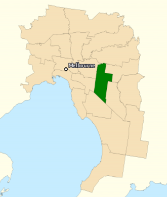 Division of Chisholm - Division of Chisholm in Victoria, as of the 2016 federal election.