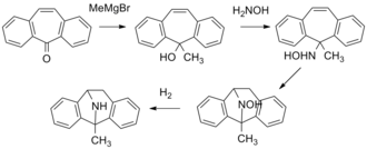 Dizocilpine - Image: Dizocilpine synthesis