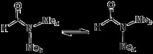 Fluxional molecule - Image: Dmf DNMR