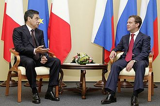 François Fillon - Fillon with Russian President Dmitry Medvedev, September 2009