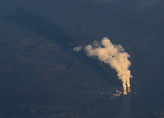 Doel Nuclear Power Station - Doel Nuclear Power Station from a commercial airliner (2010).