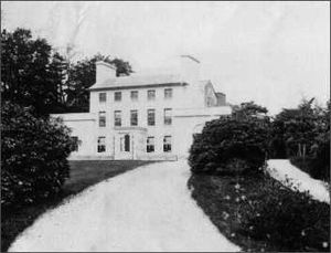 Dolaucothi Estate -  Pre 1871 photograph showing the wings and porch styled by John Nash.