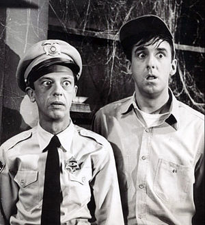 Jim Nabors - Nabors and Don Knotts in a publicity photo for The Andy Griffith Show (1964)
