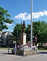Doughboy statue in roundabout, Doylestown, Ohio.jpg