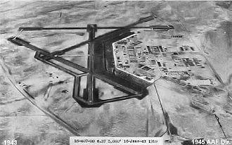 Bisbee Douglas International Airport - Oblique June 1943 photo of Douglas Army Airfield