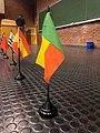 Drapeau du Bénin à la wikiconvention'19 à Bruxelles.jpg