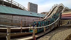 Dreamland Margate - The Restored Scenic Railway in 2016