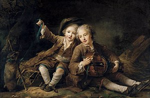Godefroy de La Tour d'Auvergne - Image: Drouais, François Hubert The Children of the Duc de Bouillon 1756