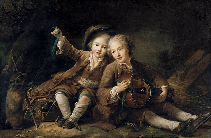 File:Drouais, François-Hubert - The Children of the Duc de Bouillon - 1756.jpg
