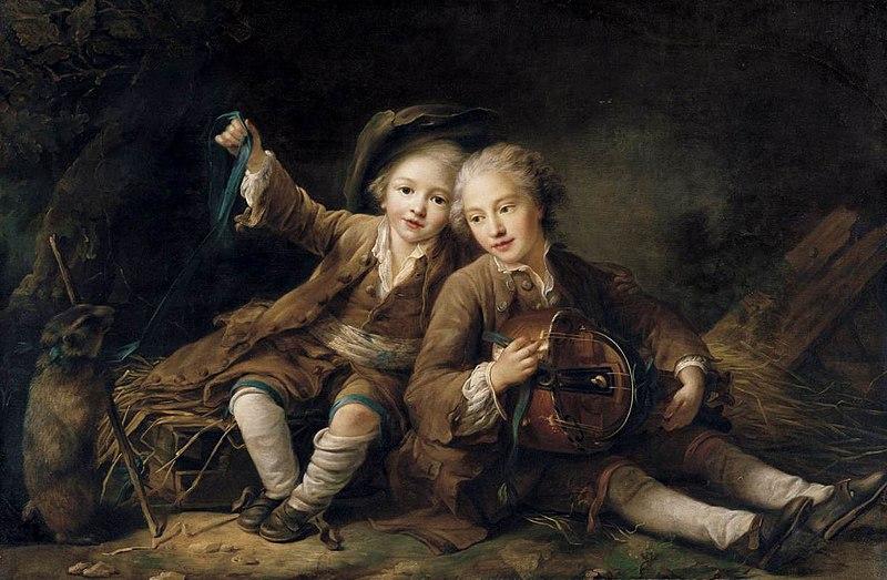 File:Drouais, François-Hubert - The Children of the Duc de Bouillon - 1756.jpg